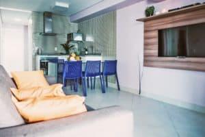 Sala e Cucina Appartamenti Landscape Gold Fortaleza